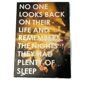 Wall Decor Sleep Nights Reminder Live Life Now